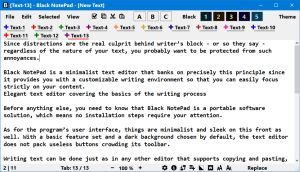 Black NotePad White