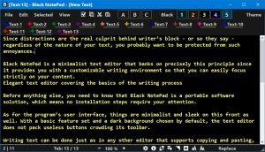 Black NotePad Yellow