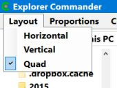 explorer commander layout menu