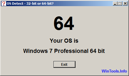 Osdetect Windows 7 64-bit