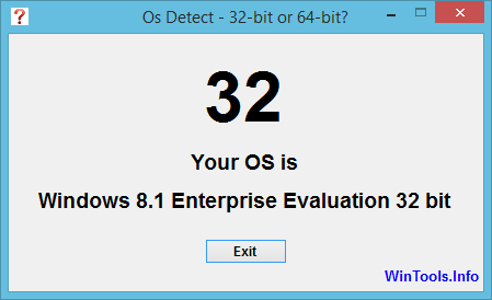 Osdetect Windows 8 32-bit