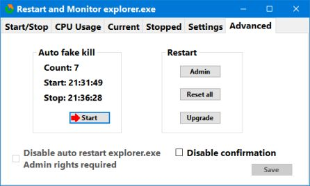 restart explorer advanced