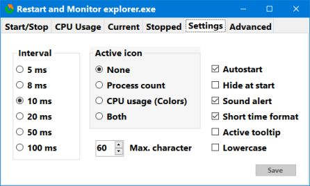 restart explorer settings