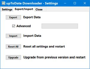 uptodate downloader export