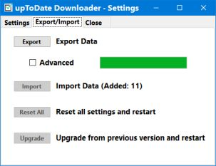 uptodate downloader import